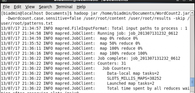 BigInsights - Running Java MapReduce in terminal