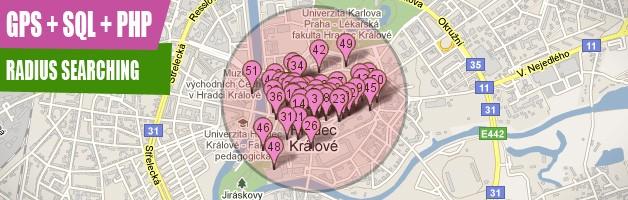GPS distance search via MySQL and PHP - Matouš Havlena