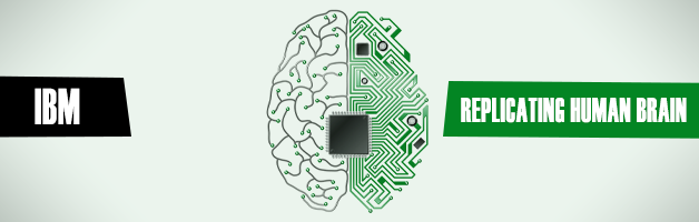 Why is IBM in decline and tries to replicate the human brain?