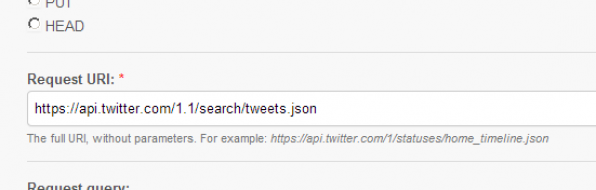 Twitter Screenshot - OAuth request